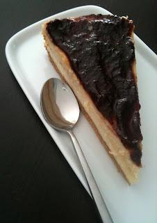 Tarta de queso con mermelada de arandanos del Mercau de Porrua