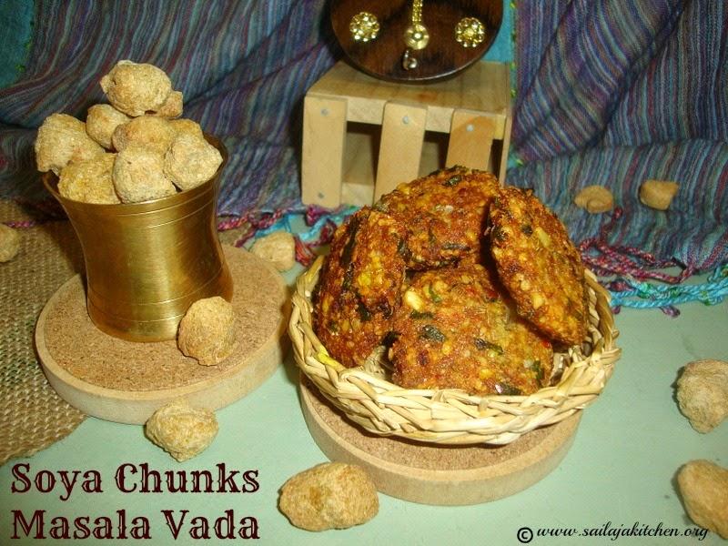 images for Meal Maker Masala Vada / Meal Maker Paruppu Masal Vadai / Soya Chunks Masala Vada / Soya chunk & Channa Dal Vada