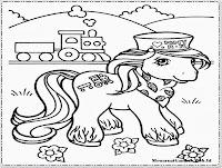gambar mewarnai kuda poni yang imut dan lucu