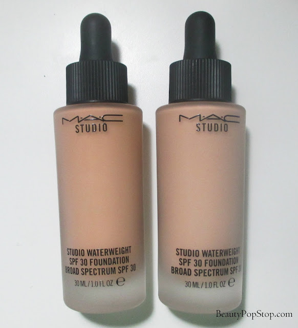 mac studio waterweight spf30 foundation swatches & review NW18, NW22
