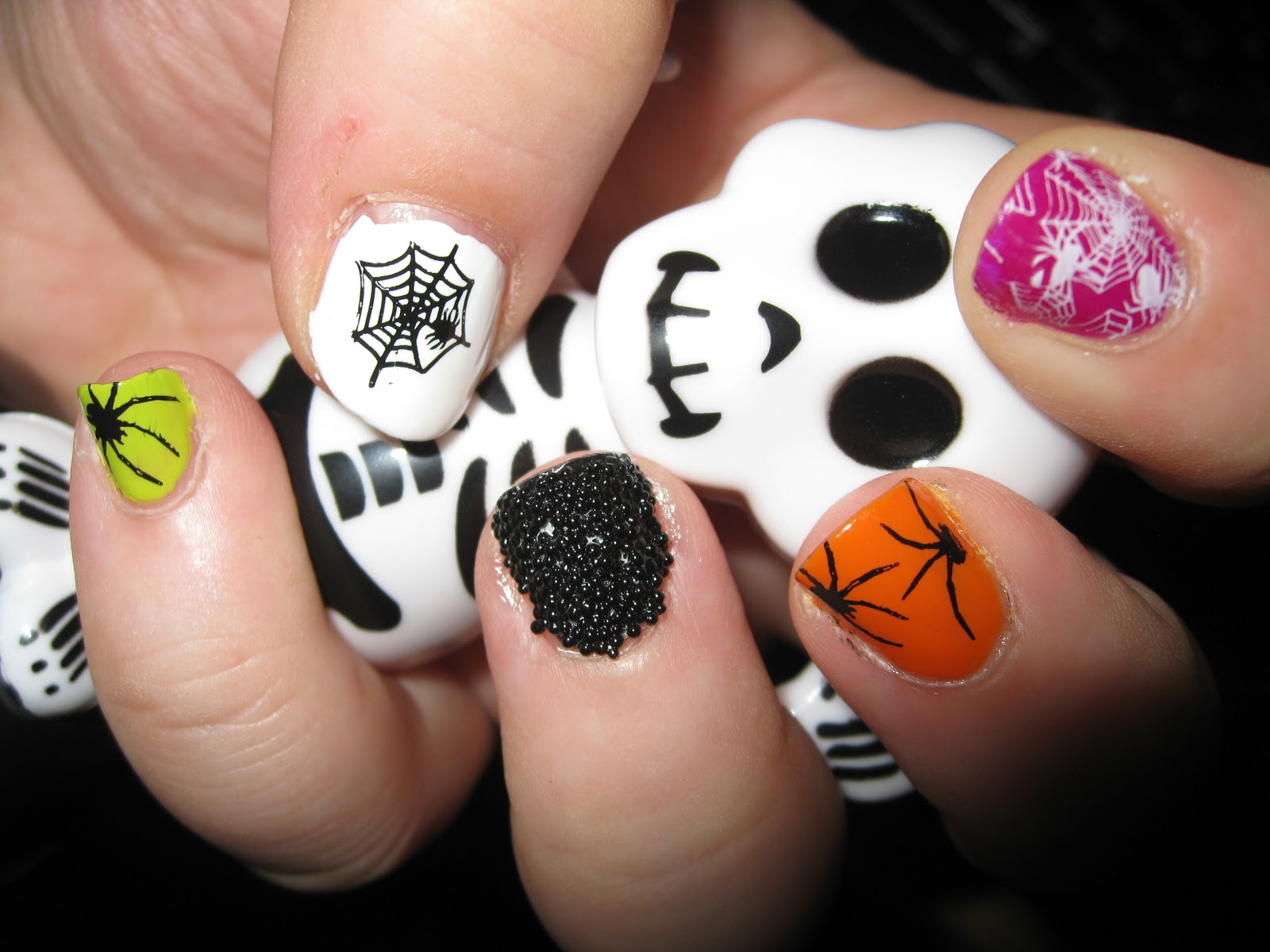 Nail Designs besides Unique Nail Art Designs besides Halloween Nail ...