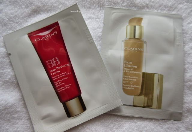 Clarins foundation samples
