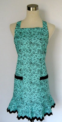 Brown Aqua Toile