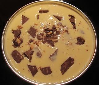 Tarta de queso con turrón de chocolate Suchard