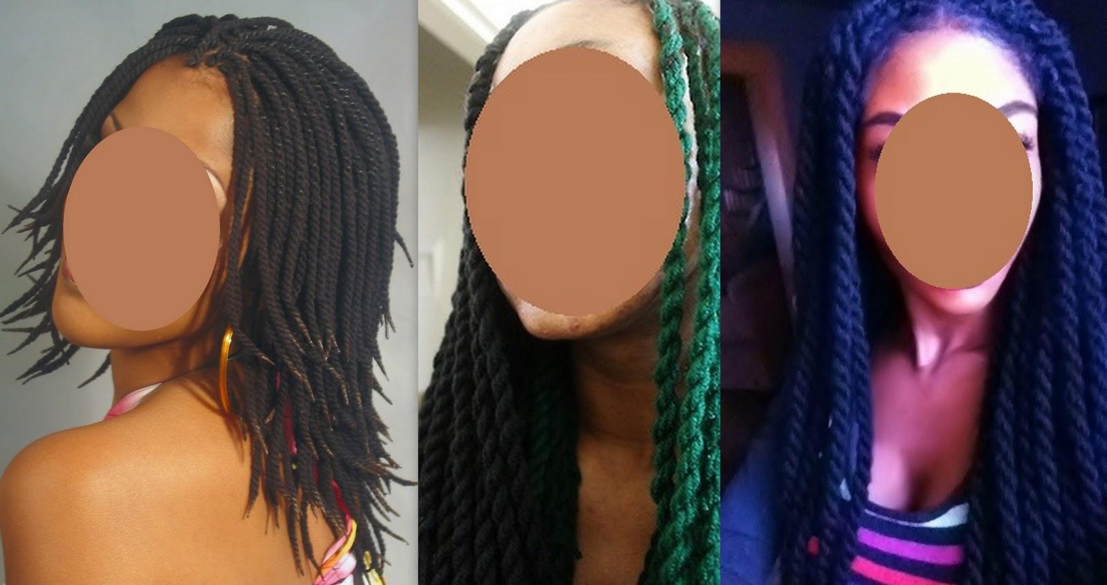 Nappy crepue hair coiffure avec de la laine 100 acrylique - Avantage de la laine ...