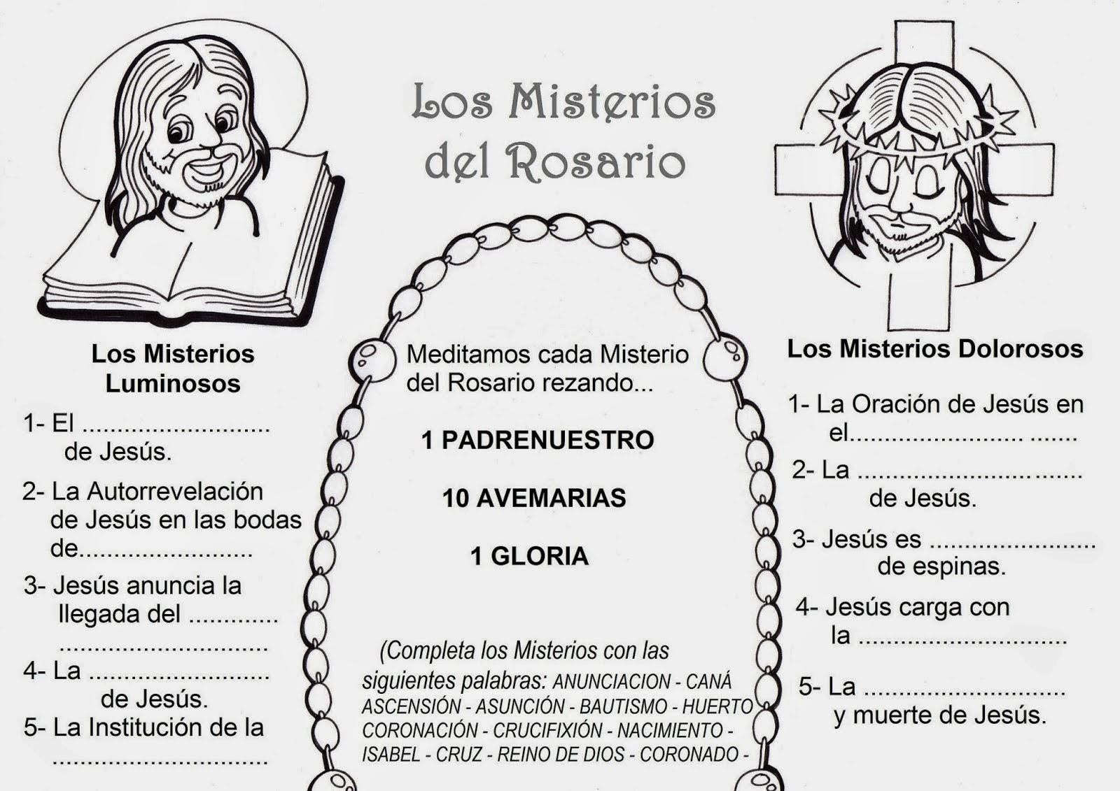 Blog Católico Navideño ®: LOS MISTERIOS DEL SANTO ROSARIO PARA ...
