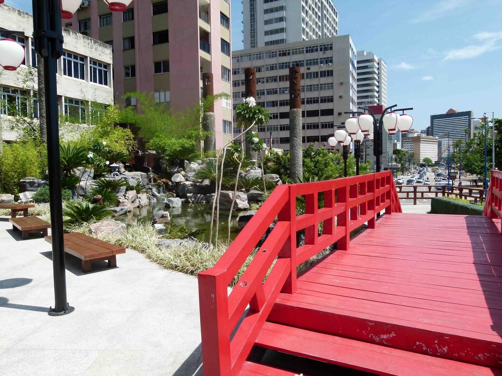 imagens jardim japones:local conta com bancos, mas poucos espaços com sombra. Uma pena!