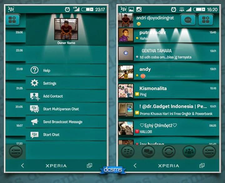 BBM Mod hijau Sakitnya tuh disini lampu sorot + ping diganti dengan hallo apk download