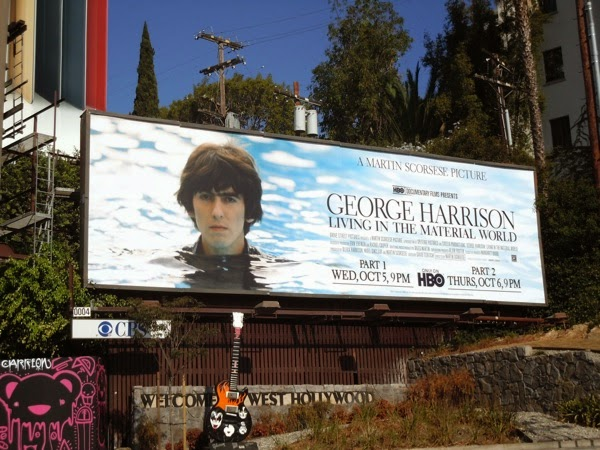 George Harrison Living in a Material World HBO billboard