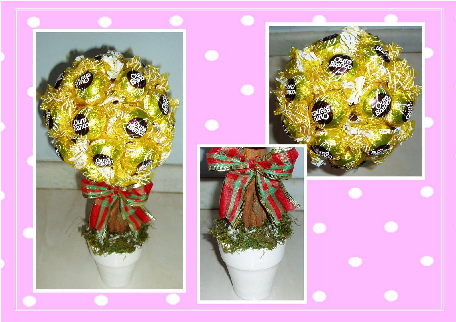 decorar ouro branco:Topiaria Chocolate Ouro Branco é uma delícia!! Serve para dar de