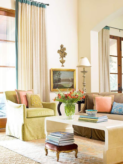 living room a youthful energy while yards of neutral color fabric