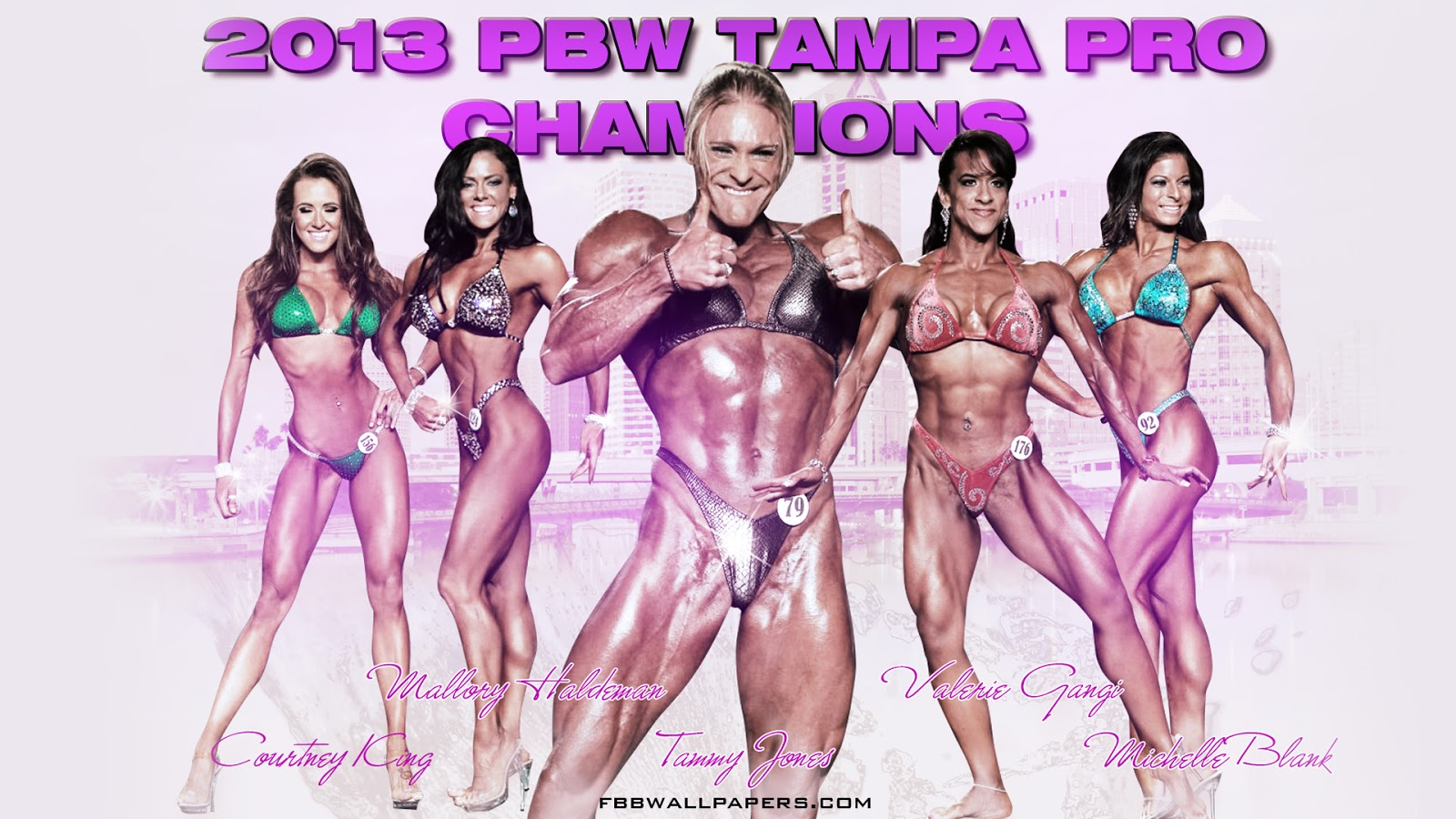 2013 PBW Tampa Pro Women Champions 1920 by 1080 Wallpaper