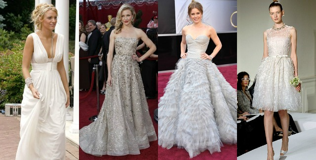 best, Oscar de la renta, silver dresses, serena van der woodsen, white party, blake lively, amy adams, oscars, cameron diaz, gowns