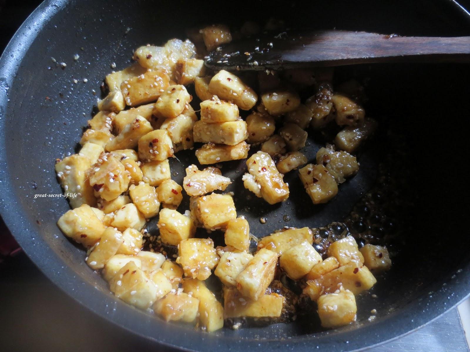 Great-Secret-Of-Life: Sweet and hot Sesame Tofu