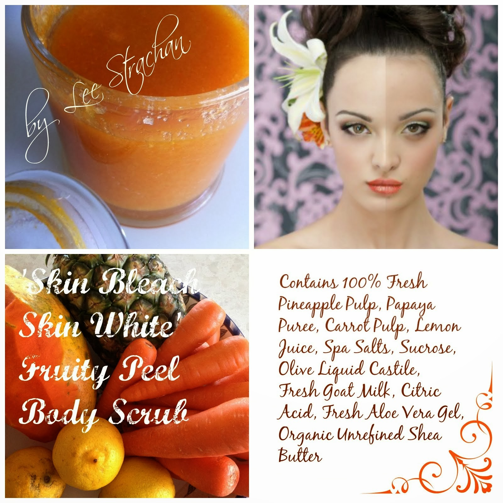 Skin Bleach Skin White -100% Natural Body Scrub by Caress By Nature Australia