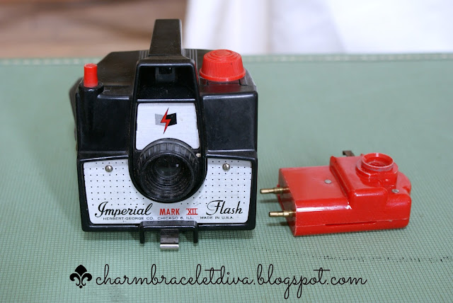 Vintage Imperial Mark XII camera and flash