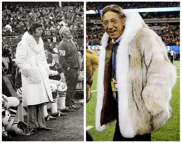 Joe Namath at Super Bowl 48 and in 1971