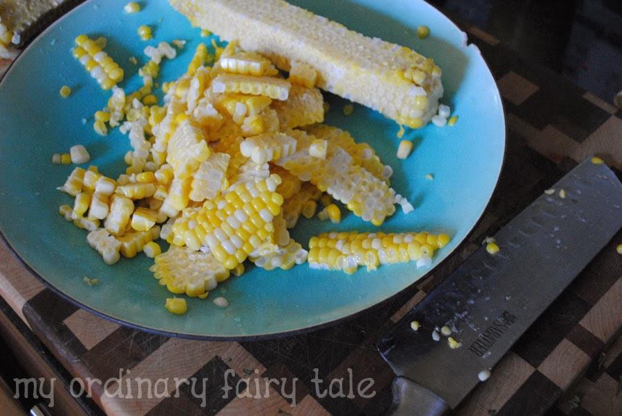 how to make a corn cob knife handle
