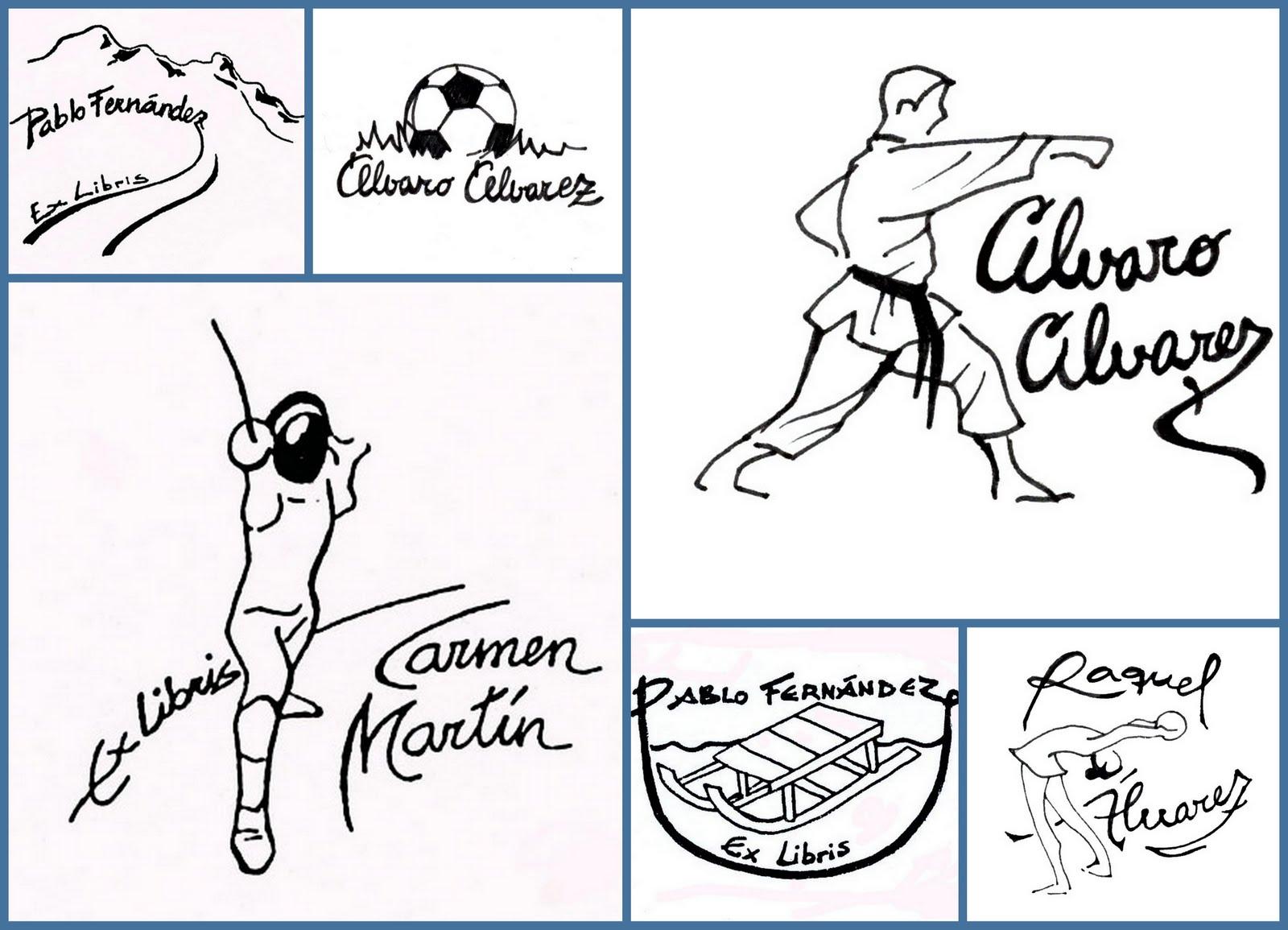 El taller de pepa ex libris para deportistas - Ex libris personalizados ...