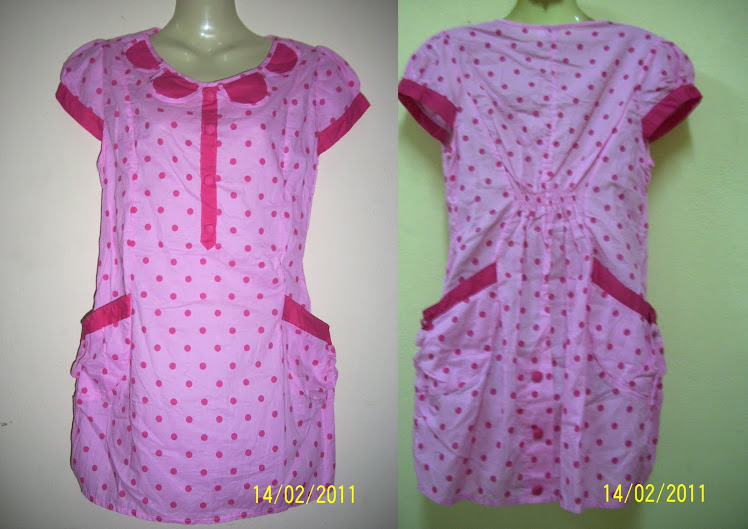 Pink PocoDot Blouse - FR16
