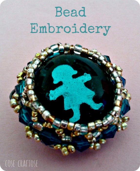bead embroidery - pupa
