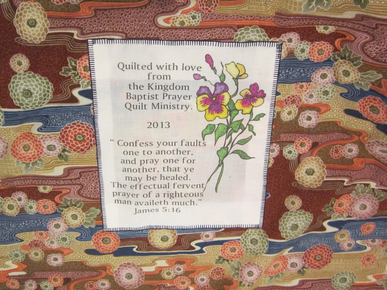 Missy's Homemaking Adventures: Prayer Quilt Presentation : prayer quilts - Adamdwight.com