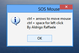 SOSMouse , windows softwares, freewares, Utilities , System tools,  , move mouse using keyboard