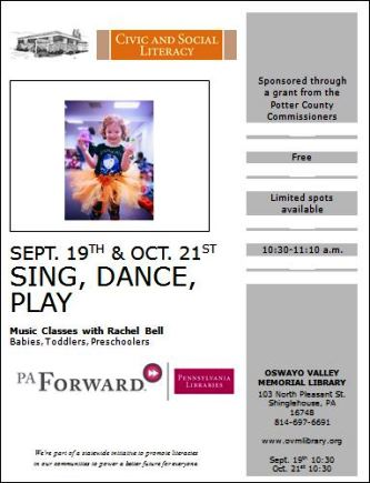 9-19 & 10-21 Sing, Dance, Play