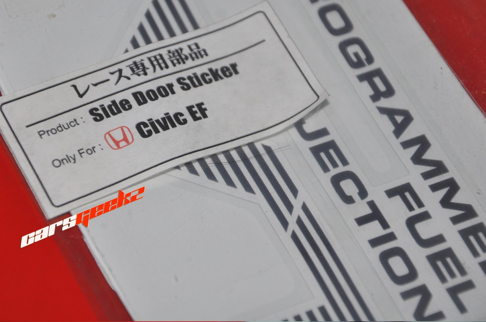 honda civic ef dohc vtec sticker