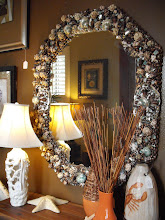 Dark Seashell Mirror