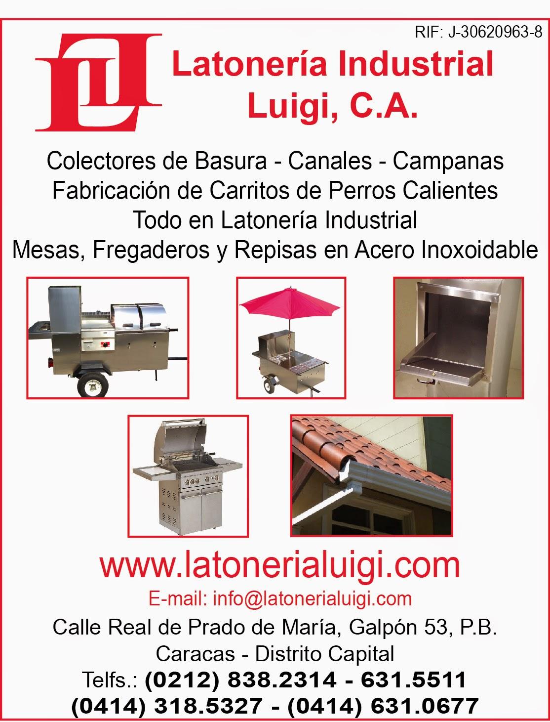 LATONERIA INDUSTRIAL LUIGUI, C.A. en Paginas Amarillas tu guia Comercial