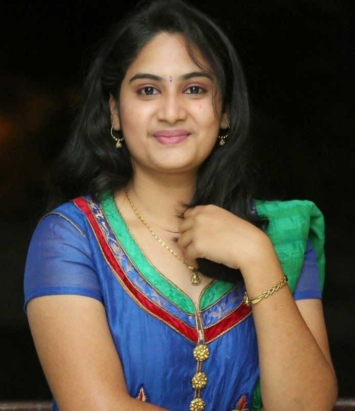 Krishnaveni In Blue Suit New Stills