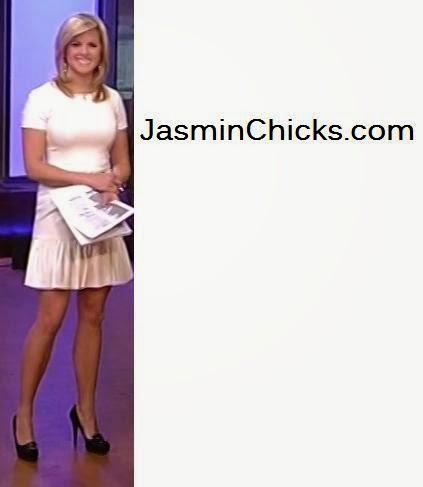 Elizabeth Prann short skirt