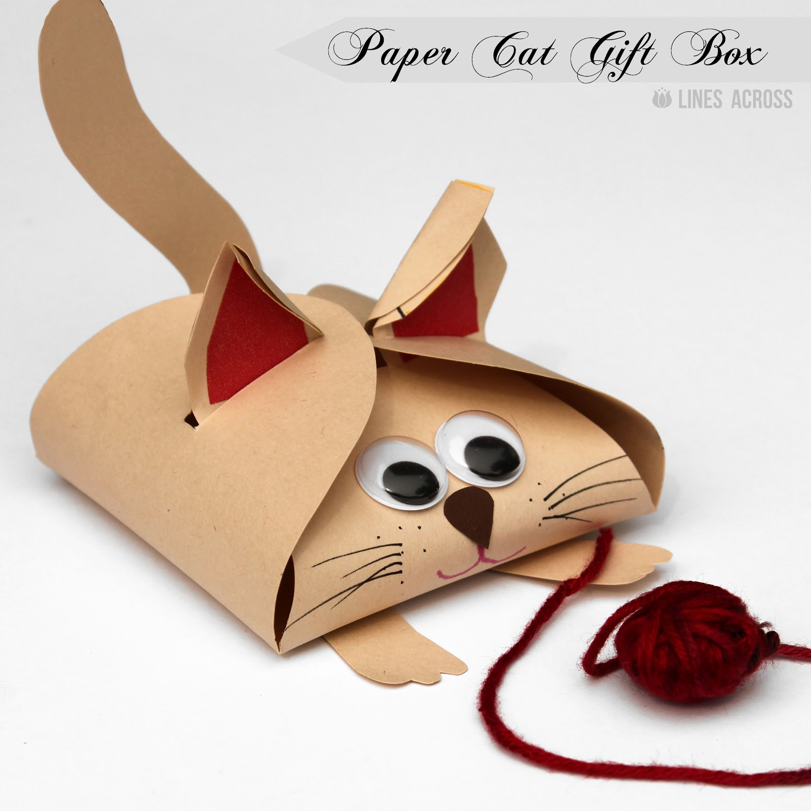 Dog and Cat Paper Gift Boxes Lines Across – Paper Gift Boxes Templates