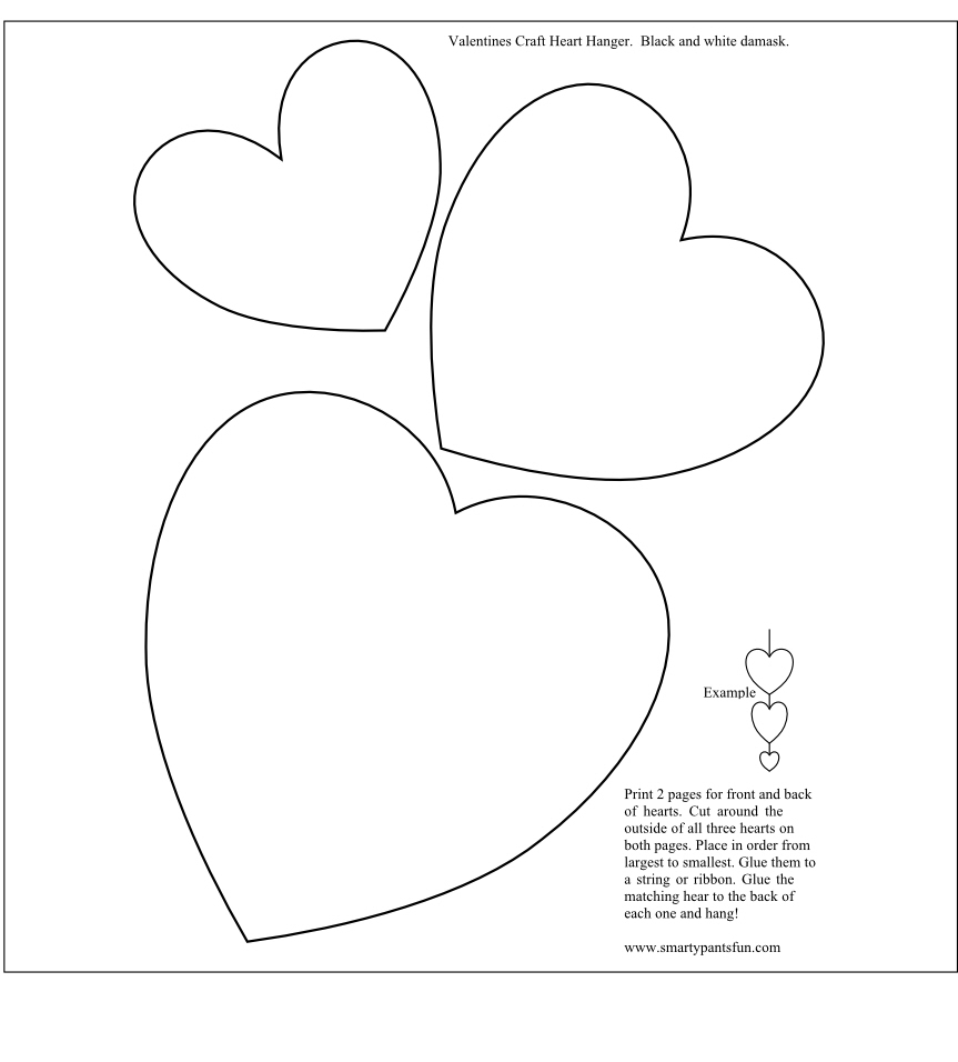 Print Valentines Day Hearts Template