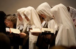 The Carmelites at Mass
