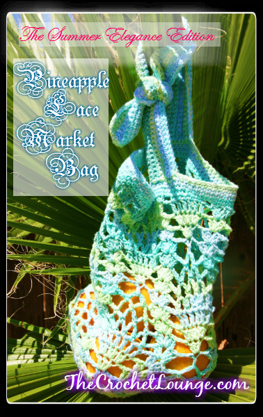 Pineapple Crochet Bag Pattern : Fiber Flux: Lovely And Lacy! 25 Beautiful Lace Patterns