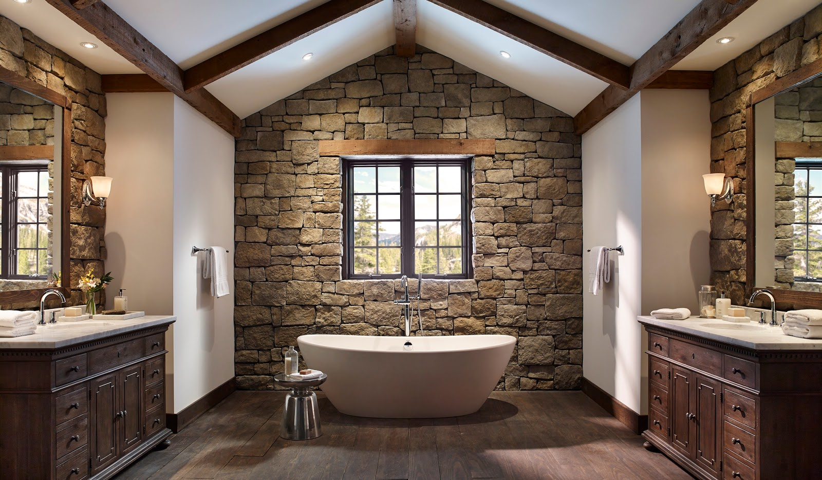 Stone Bathroom Ideas Fair Stone Bathroom Design Ideas  Simple Minimalist Home Design Review