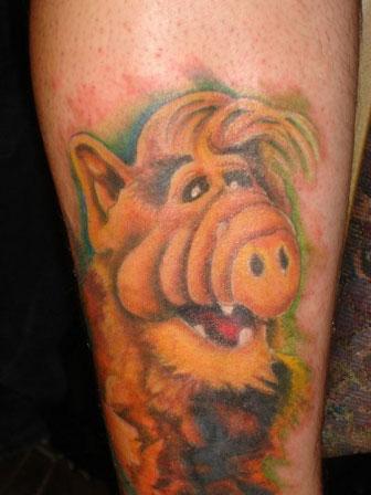 Tatuaje de Alf