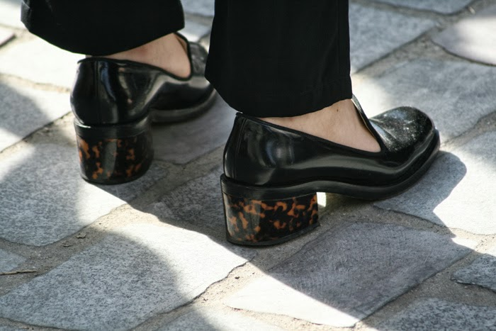 paris fashion week shoes details