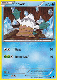 Snover Plasma Blast Pokemon Card