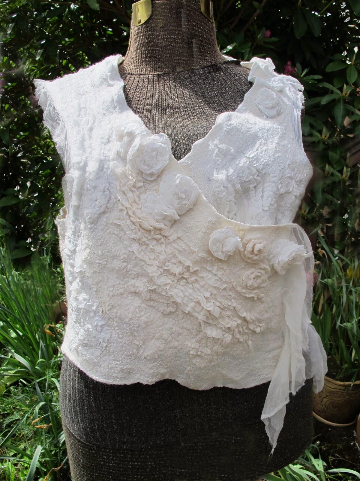 Pat Spark white felt vest