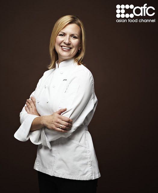 Canadian Chef Anna Olson, Cooking Show, Asian Food Channel, Tortière, Pumpkin Brulée Tart, Bake with Anna Olson. North American Food, Eastern European Food