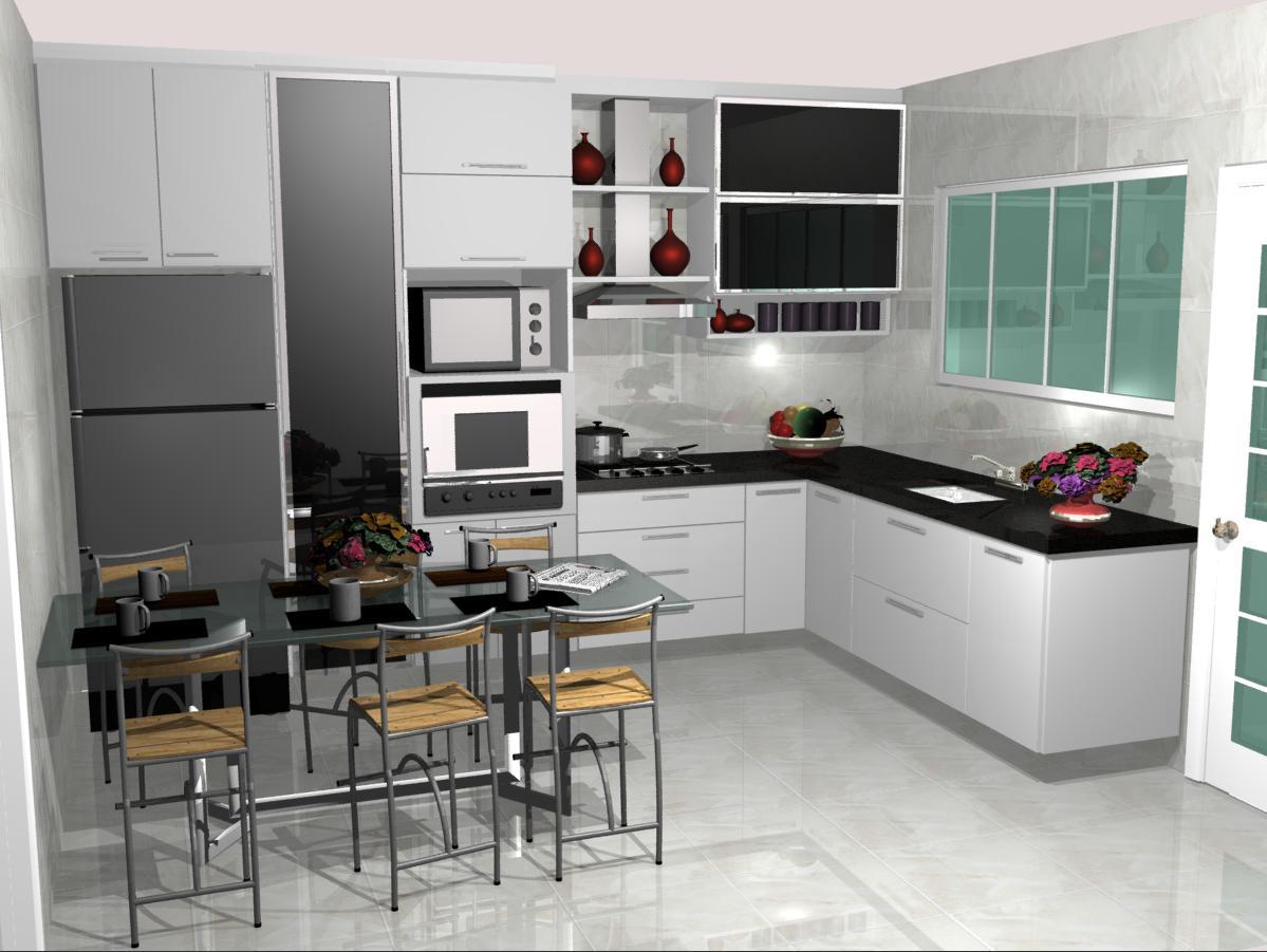 #663E31 Cozinhas planejadas: Cozinhas pequenas planejadas 1199x901 px Fotos De Projetos De Cozinha_967 Imagens