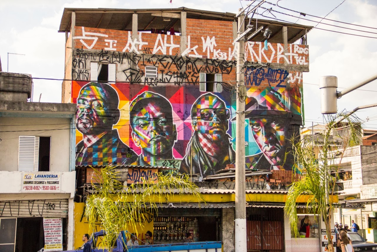 "After ""The Thinker"" earlier this month , Kobra is still in Sao Paulo where he just finished working on this signature street art mural."
