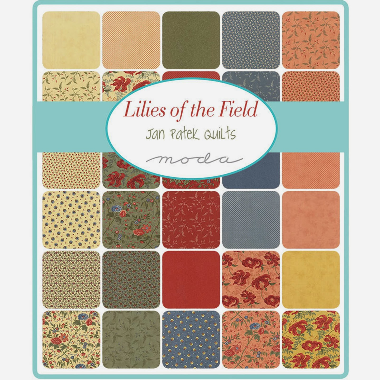 Moda LILIES OF THE FIELD Fabric by Jan Patek for Moda Fabrics