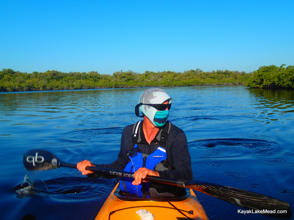 Druce entering Joe River, Everglades Challenge 2013