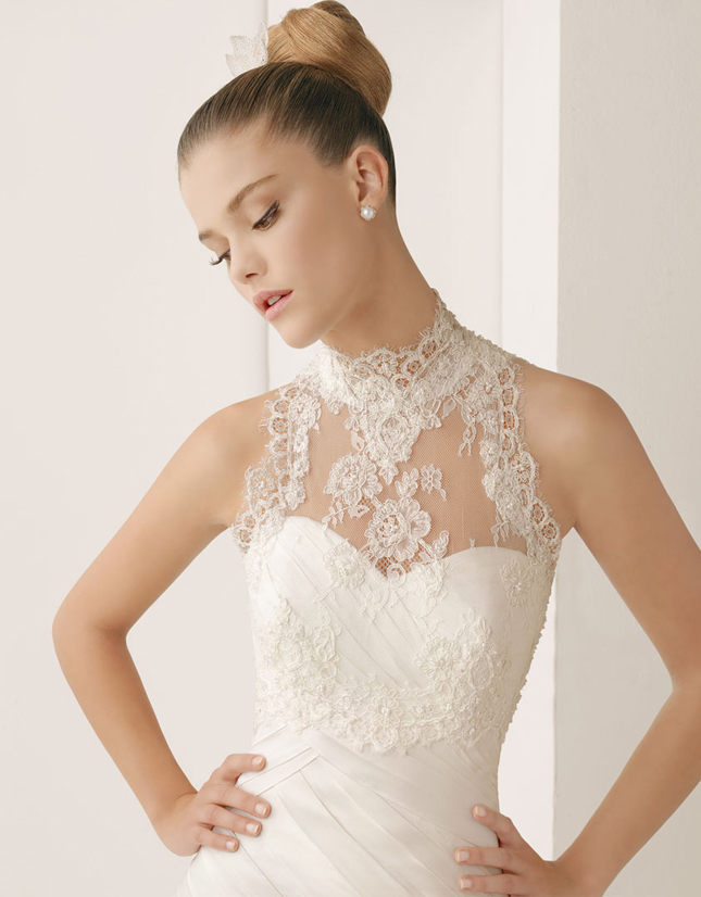 dress of the week rosa clara wedding tops belle the With lace top wedding dress