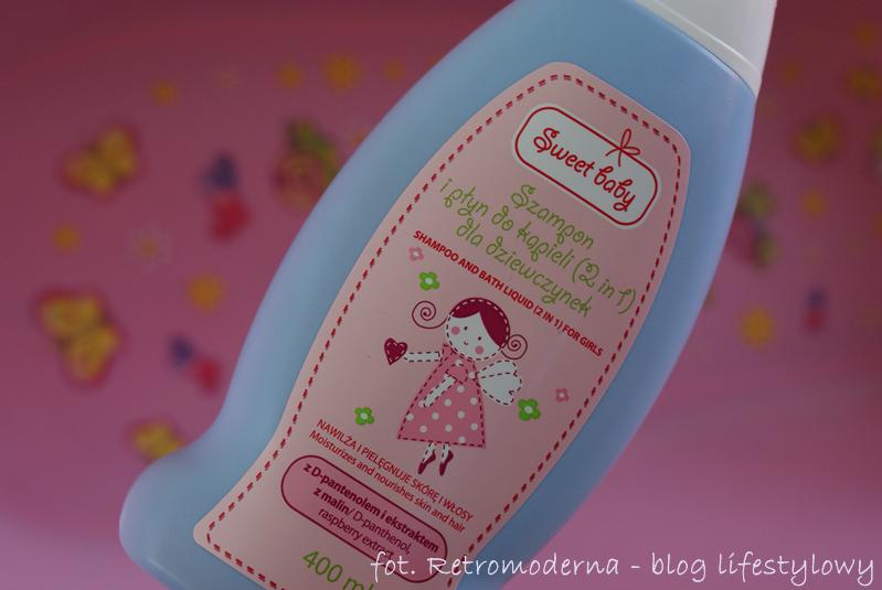 Szampon i płyn do kąpieli (2w1) dla dziewczynek Sweet Baby (Pharma CF) o zapachu malin.