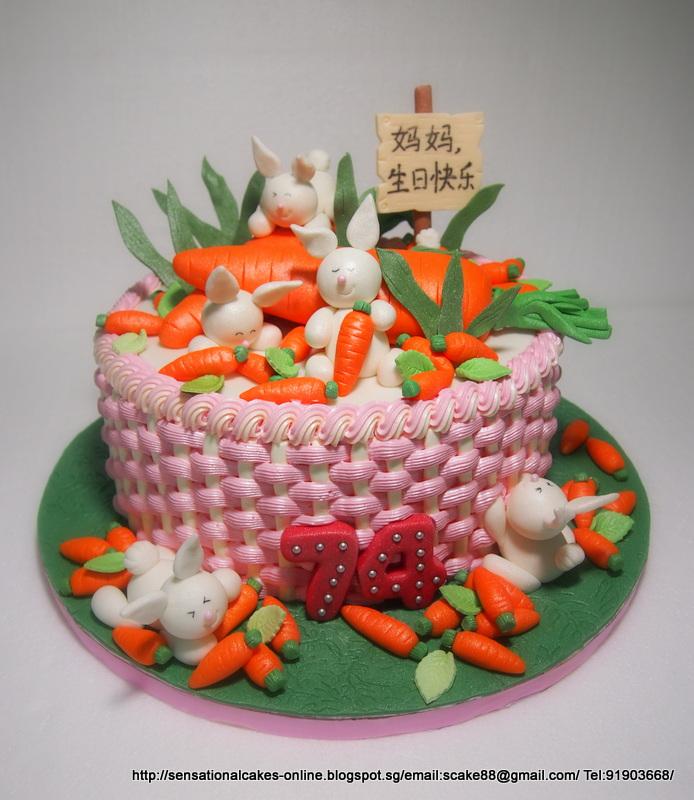 RABBIT BUNNIES CAKE SINGAPORE LONGEVITY BIRTHDAY FOR MUM